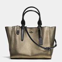 CROSBY CARRYALL IN METALLIC LEATHER