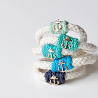 Anchor Rope Bracelet - Available in 13 Colors