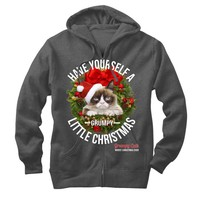 Grumpy Cat Have a Grumpy Christmas Mens Lightweight Zip Hoodie - Fifth Sun