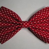 Red and White hearts Hair Bow ,Blue hair bow , Hair Bow for teens and women, Kids hair bows