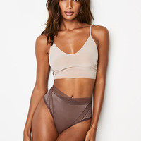 Floral Lace & Mesh High-waist Cheeky Panty - Body by Victoria - Victoria's Secret