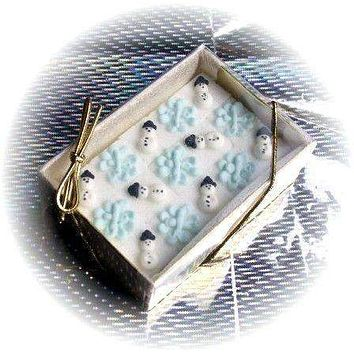 48 Decorated Sugar Cubes - Winter