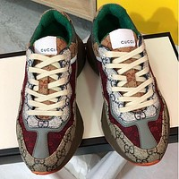 GUCCI GG Mens and Womens Double G Platform Sneakers Shoes 1-4