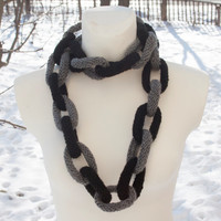 Scarf rope, chain, chunky scarf crochet infinity scarf  rope chain scarf fall winter women accessories gift