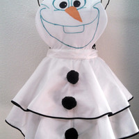 Frozen's Olaf Vintage Style Inspired Apron-MTO