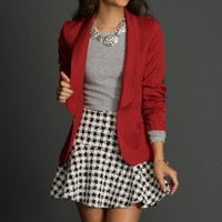 Sale-red Classic Open Front Blazer