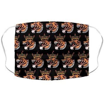 Tiger with a Crown Face Mask Cover