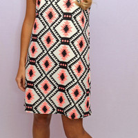 From Work 2 Play Printed Dress - Haute Pink Boutique