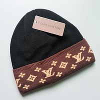 LV Jacquard knitted cap with velvet on all sides