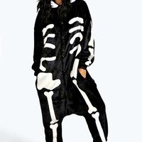 Sian Skeleton Supersoft Novelty Onesuit