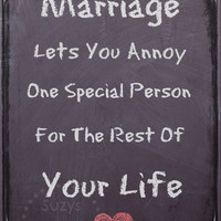 Marriage Quote, Digital Art Print, Home Decor, Ready to Frame, Funny, Wall Hanging, Chalkboard, Heart, Wedding, Anniversary, Gift, Black