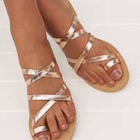 Ryla Sandals (Rose Gold Metallic) BILLINI