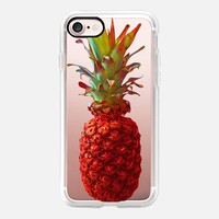 Atomic Orange Pineapple iPhone 7 Case by Lisa Argyropoulos   Casetify
