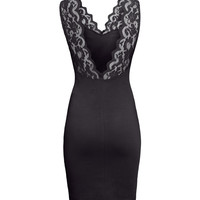 Jersey dress with lace - from H&M