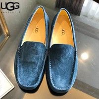 UGG Fashion New Solid Color Shoes Men Lazy High Quality Shoes Peas Shoes