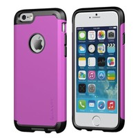iPhone 6s Plus Case, LUVVITT [Ultra Armor] Shock Absorbing Case Best Heavy Duty Dual Layer Tough Cover for Apple iPhone 6/6s Plus - Black / Purple