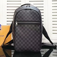 LV Louis Vuitton Fashion simple casual zipper black bag backpack travel backpack