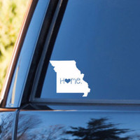 Missouri Home Decal   Missouri State Decal   Homestate Decals   Love Sticker   Love Decal    Car Decal   Car Stickers   065