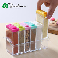 Colorful Kitchen Spice Rack - 6pc