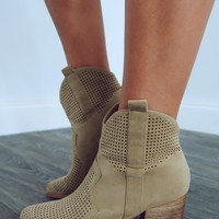Just What I Need Booties: Taupe