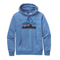 Patagonia Men's Fitz Roy Banner Lightweight Pullover Hoody | Andes Blue
