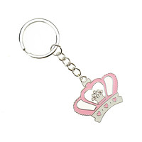 Royal Crown Baby Shower Key Chain Favor, 3-3/4-Inch, 12-Count, Pink