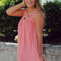 To Be Loved Dress - Coral