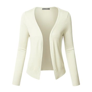 Long Sleeve Open Front Soft Ribbed Knit Cardigan (CLEARANCE)