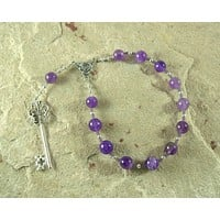 Hekate (Hecate) Pocket Prayer Beads in Amethyst: Greek Goddess of Magic and Witchcraft