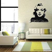 Marilyn Monroe Wall Decal Stickers Decor Easy Removable Sticker Made in USA