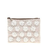 ASOS Floral Beaded Clutch Bag at asos.com