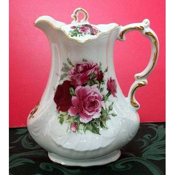 Antique Scroll 30 oz USA Hand Decorated Porcelain Teapot Click For Over 25 Patterns