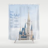 #happyplace Shower Curtain by Studiomarshallarts