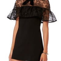 Self-Portrait Lace Overlay Dress - INTERMIX®