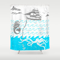 Under the Sea Shower Curtain by DejaLiyah