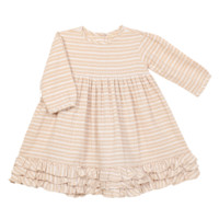 Blu Pony Vintage - Baby Dress Greta In Winter Wheat