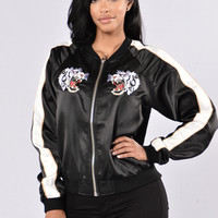 Twin Dragons Jacket - Black