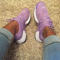 Nike Air Presto Stylish Classic Woman Personality Running Sport Shoes Sneakers Purple I
