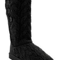 Women's Buttoned Sweater-Knit Boots | Old Navy