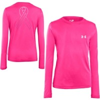 Under Armour Girls' Power In Pink Gradient Ribbon Long Sleeve Shirt - Dick's Sporting Goods