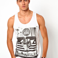 River Island Vest with California Print