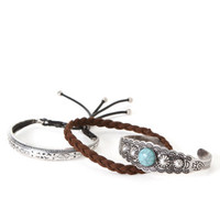 With Love From CA Silver Bracelet Pack - Womens Jewelry - Silver - One