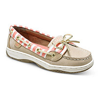Sperry Top-Sider Girls' Angelfish Boat Shoes - Silver Cloud/Coral Bret