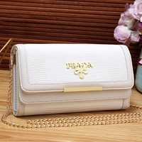 PRADA Women Fashion Leather Purse Wallet