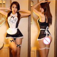 Women French Cosplay Maid Uniform Lingerie