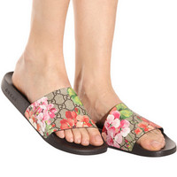 shosouvenir Gucci Casual Fashion Women Floral Print Sandal Slipper Shoes
