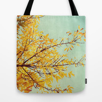 in the land of autumn Tote Bag by Beverly LeFevre