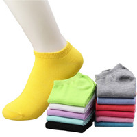 20pcs=10pairs/lot women cotton socks summer cute candy color boat socks ankle socks for woman thin sock slippers s04