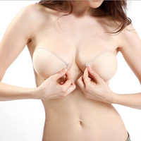 Sticky Strapless Backless Silicone Fabric Adhesive Invisible Bra