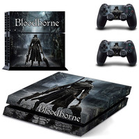 Bloodborne design decal for ps4 console sticker